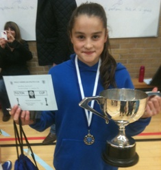 Rhea with the Pulton Cup